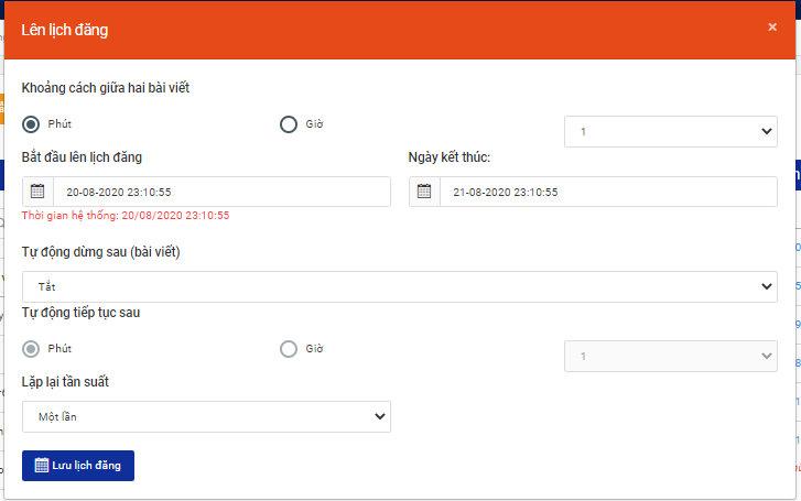 Tự động lập lịch đăng trên phần mềm Ninja Auto Post