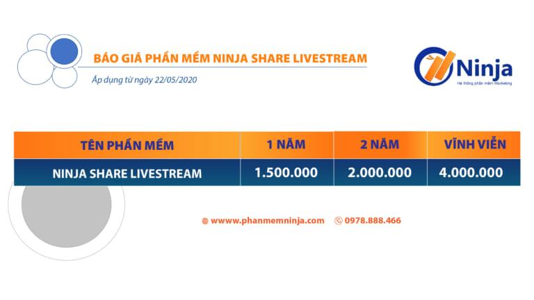 bảng giá ninja share livestream
