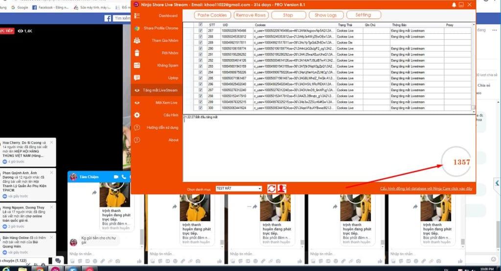 Phần mềm chia sẻ livetsream tự động hỗ trợ tăng mắt xem