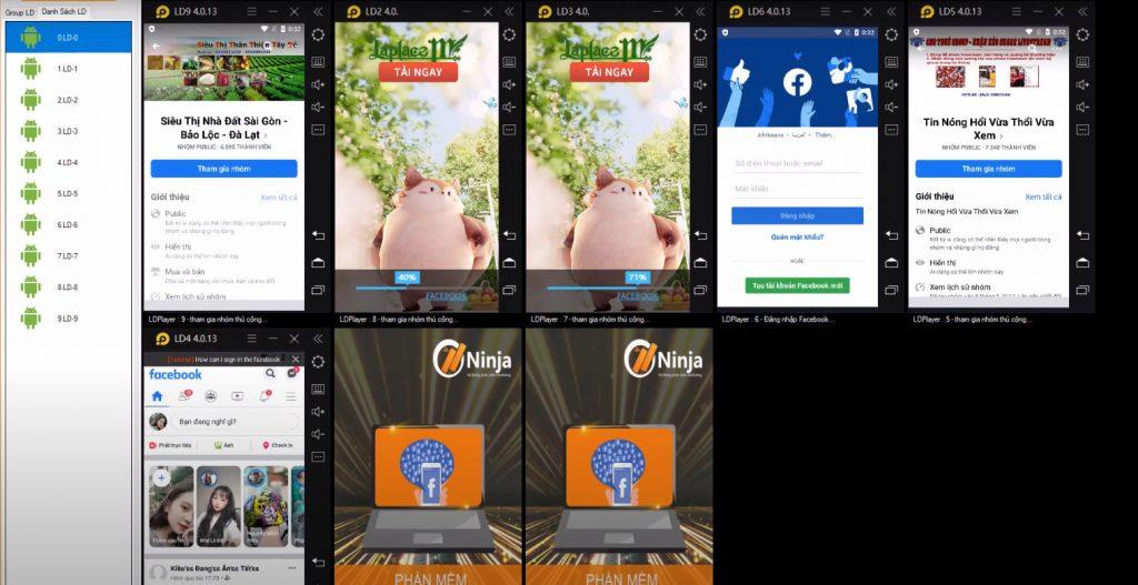 Phần mềm nuôi nick facebook chạy tự động tham gia nhóm facebook hàng loạt