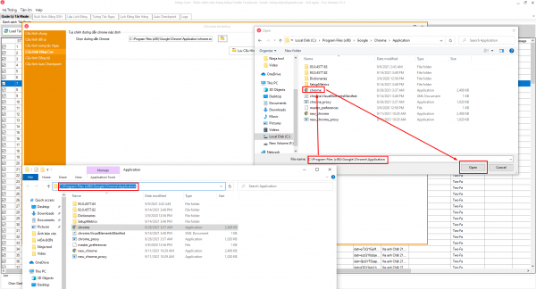 Cấu hình nâng cao chọn đường dẫn chrome cho phần mềm Ninja care