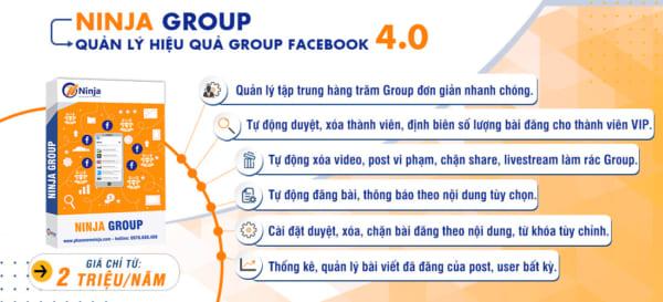 Phần mềm quản lý group facebook chuyên nghiệp tiện lợi