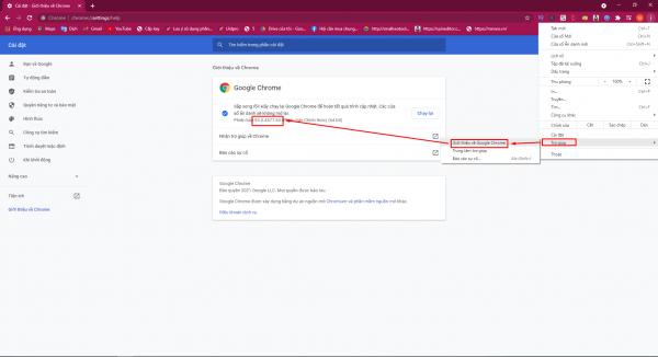 Hướng dẫn kiểm tra phiên bản chrome trên web